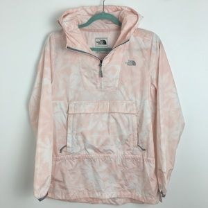 North face fanorak size S pink pull over